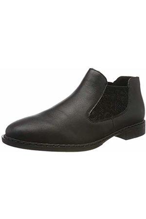 Rieker Women's 52490-00 Chelsea Boots, Schwarz 00