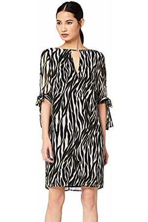 TRUTH & FABLE Sheer Sleeve Tunic Dress (Multi Colour)