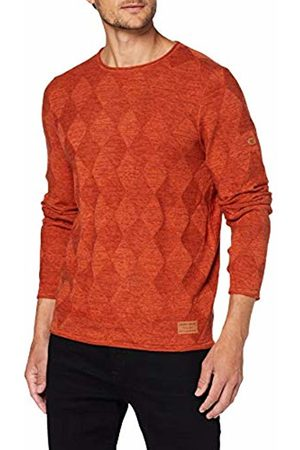 Camel Active Men's Crew Neck 3 Col with Structure Jumper, (Burnt 66)