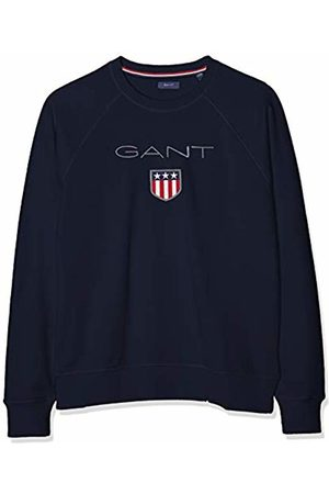 GANT Boys' D1. Shield Logo Sweat C-Neck Sweatshirt, (Evening 433)