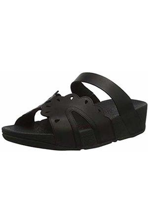 FitFlop Women's Esther Floret Slides Open Toe Sandals, ( 090)