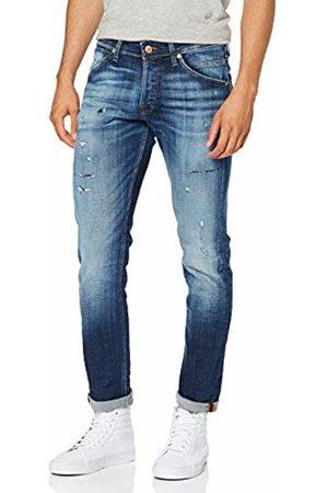 Jack & Jones NOS Men Slim - Men's Jjiglenn Jjfox Jj 176 Noos Slim Jeans, Denim