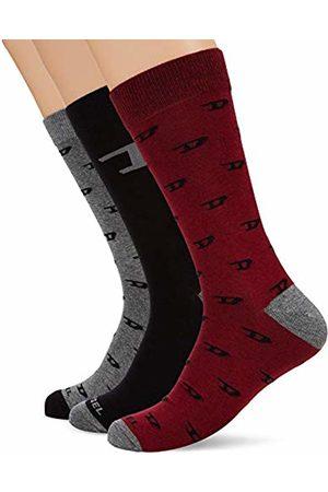 Diesel Men's SKM-RAY-THREEPACK Calf Socks, 3/5 (Manufacturer size: Small)