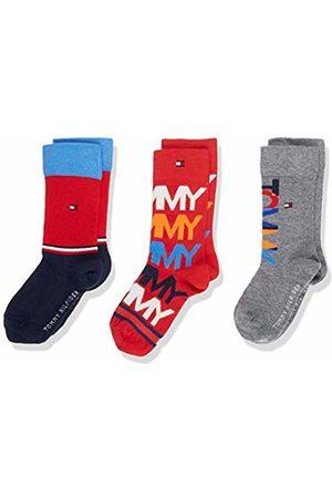 Tommy Hilfiger Boy's Th Kids Sock 3p Giftbox Calf