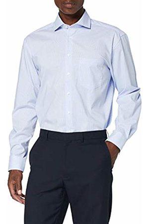 Seidensticker Men's Comfort Langarm mit Spread Kent-Kragen Bügelfrei Kariert-100% Baumwolle Formal Shirt