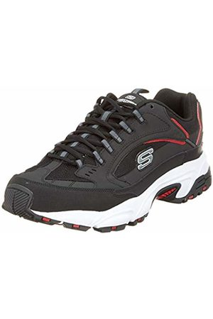 Skechers Men's Stamina-Cutback Trainers, ( Leather/Pu/Mesh/ Trim BKRD)