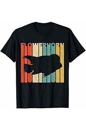 Classic Vintage Retro T-Shirts Vintage Retro Flowerhorn Silhouette T-Shirt