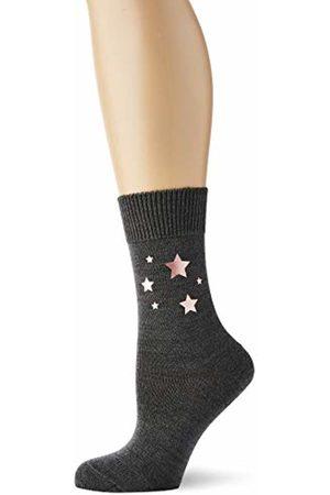 Falke Girl's Glitter Stars Print Calf Socks, (Dark 3070)