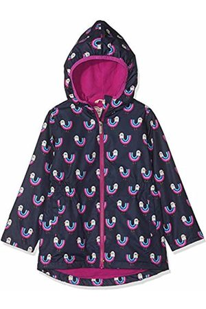 Hatley Girl's Microfiber Rain Jackets Raincoat (Rainbow Birds 400)