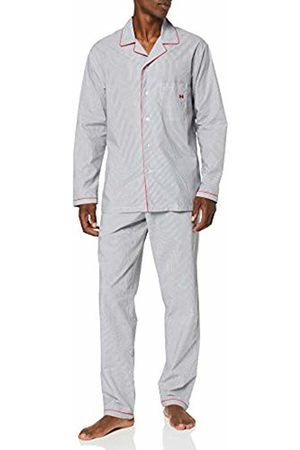 Hom Men's Sleek Long Woven Sleepwear Pyjama Set