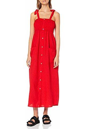 Only Women's Onlsaturn Maxi Dress WVN, Goji Berry