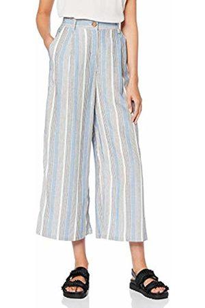 Only Women's Onlamalia Cullotte Pants WVN Trouser, (Copen Summer Stripe)