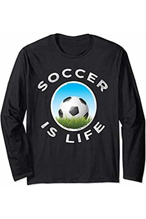 World Soccer Gear Soccer Is Life Graphic Workout Gift boys men girls women Long Sleeve T-Shirt