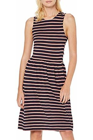Only Women's Onladette S/l Dress JRS, Stripes: Night Sky/Rose