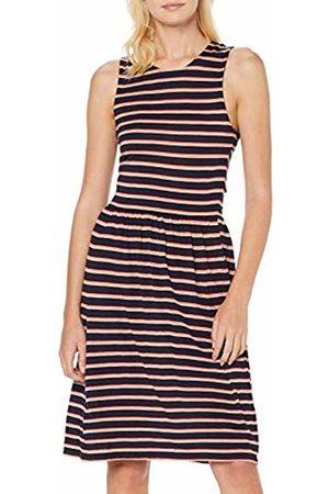 Only Women's Onladette S/l Dress JRS, Stripes: Night Sky/Rose