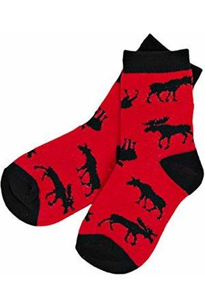 Hatley Boy's Moose On Crew Ankle Socks