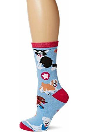 Hatley Little Blue House by Women's Don'T Worry Be Hoppy Ankle Socks