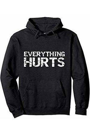 Cute Fitness Workout Design Studio Funny Workout Gift for Men Distressed Everything Hurts Pullover Hoodie