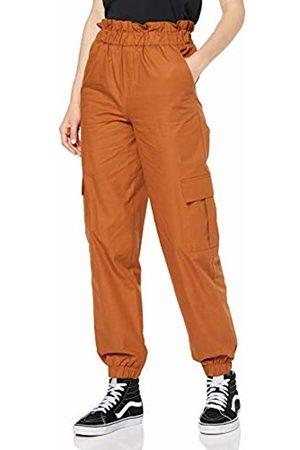 Only Women's Onllene Cargo Long Pant WVN Trouser, ARG Dachshund Oil