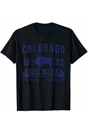 Tee Styley Colorado Bison Peak Retro 1892 T-Shirt