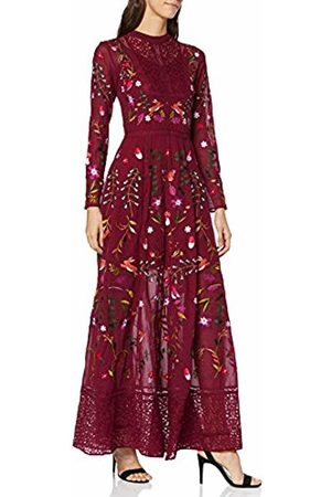 Frock and Frill Women's Gryffyn Embroidered Lace Maxi Party Dress, ( Potion #6d324e)