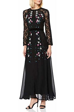 Frock and Frill Women's Harolyn Long Sleeve Lace Embellished Maxi Dress Party ( #000000)