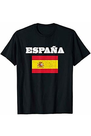 Espana Spain Co. by SaltyVn Spain Vintage Sports Tee Design Spanish Flag Espana Spanish T-Shirt