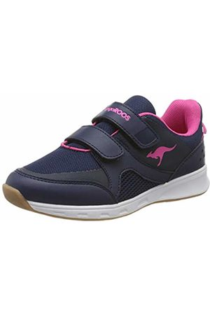 KangaROOS Unisex Kids' Courty V Multisport Indoor Shoes, ((Dk Navy/Daisy 4204)