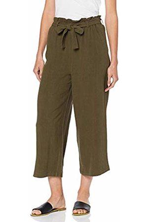 Only Women's Onlcharlie Hw Loose Crop Pant Bin PNT Trouser, Crocodile