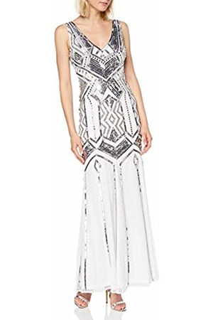 Frock and Frill Women's Gilda V-Neck Embellished Maxi Dress Party ( #111111)