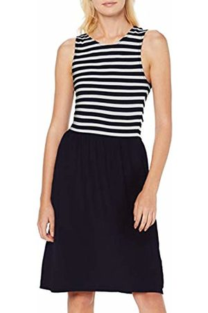 Only Women's Onladette S/l Dress JRS, (Night Sky Striped Top Part/Solid Bottom Par)