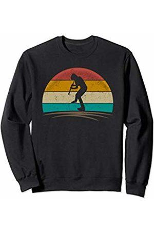 Wowsome! Vintage Flutist Retro 70s Distressed Flute Player Men Women Sweatshirt