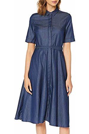 Stefanel Women's HV015D50661 Dress, Blu (Denim )