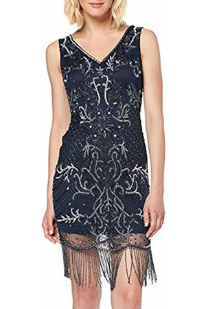 Frock and Frill Women's Hera V-Neck Fringed Embellished Flapper Dress Party