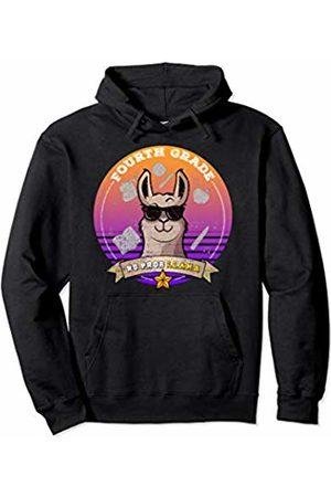 4th Grade Shirt Tee Kaboom Fourth Grade No Prob Llama Distressed Girl Back to School Pullover Hoodie