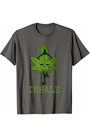 Funny Yoga Marijuana Shirts Cannabis Leaf Yoga Pose Inhale | 420 | Yoga Marijuana T-Shirt