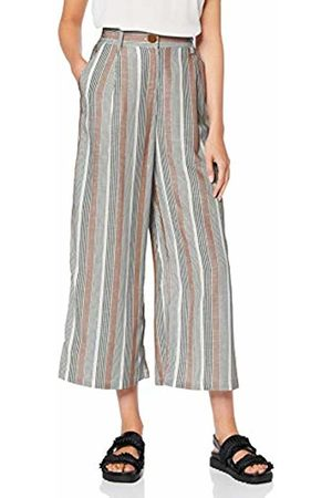 Only Women's Onlamalia Cullotte Pants WVN Trouser, (Sugar Almond Summer Stripe)