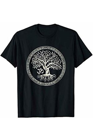 Spiritual Tees Tree of Life with Om Symbol Yoga T-Shirt - Women Men Her Him T-Shirt
