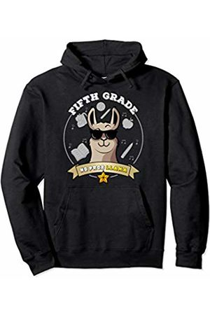 5th Grade Shirt Tee Kaboom Fifth Grade No Prob Llama Girl Back to School 5th Grade Pullover Hoodie