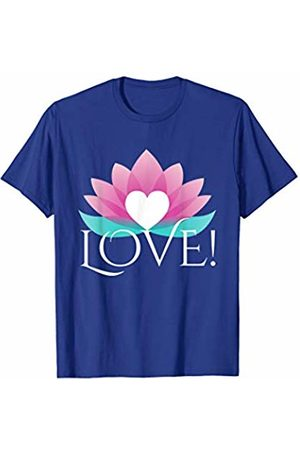 Love! Official Brand Dark Tee Lotus Yoga Zen Namaste T-Shirt