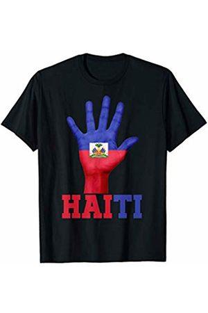 Vishtea HAITI Hand Up Flag Tshirt I Love HAITI Travel Tee T-Shirt