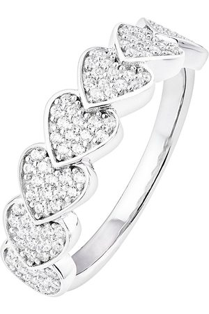 The Love Silver Collection Sterling Silver Cubic Zirconia Pave Heart Ring