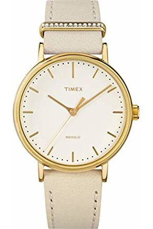 Timex Womens Analogue Classic Quartz Watch with Leather Strap TW2R70500