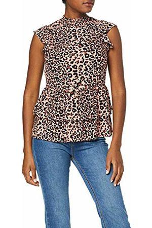 Dorothy Perkins Women's Leopard Crinkle Ladder Trim Shell Blouse, 145