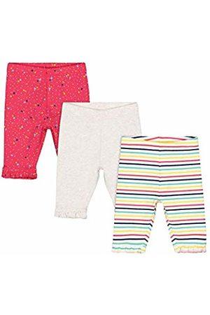 Mothercare Baby Girls' MG PA 3PK AOP/Gry/Stripe Legging Cropped