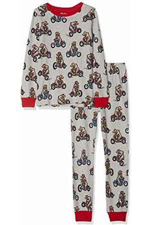 Hatley Boy's Organic Cotton Long Sleeve Printed Pyjama Sets (Biking Bear 020)