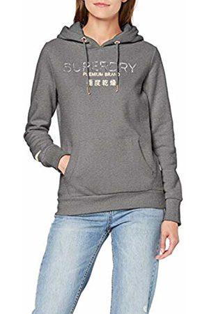 Superdry Women's Premium Brand Heat Seal Entry Hood Hoodie, (Frost Marl O6w)