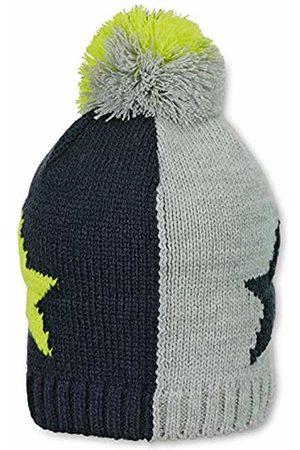 Sterntaler Boy's Bonnet Unisexe En Tricot Avec Pompon Et Motif Étoile, Âge: 18-24 Mois, Taille: 51 cm, Bleu/gris/Jaune Beanie