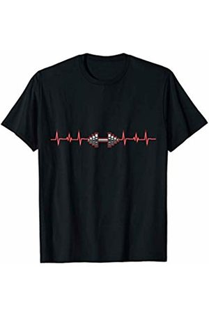Workout Fitness Gym Apparel Dumbbell EKG Heartbeat - Fitness Weightlifting Lover T-Shirt