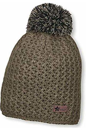 Sterntaler Boy's Bonnet Unisexe Tricotée Avec Pompon Et Tricot Épais, Âge : 4-6 Mois, Taille : 55 cm, Vert Foncé Beanie